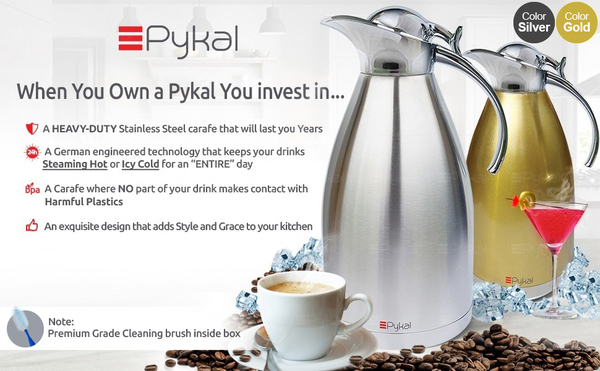 Coffee Lovers Gift Thermal Coffee Carafe by PYKAL