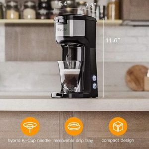 Sboly Single Serve Coffee Maker Brewer with Automatic Shut-off