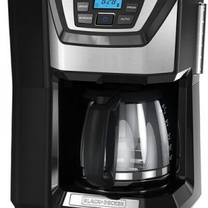 Black+Decker CM5000B 12 Cup Coffeemaker with Built-in Grinder